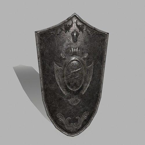 shield   3d model low-poly obj mtl fbx blend 1