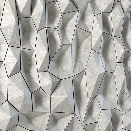 panel decor polygon 3d model max obj mtl fbx 1