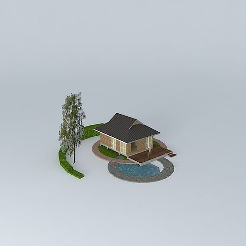 small vacation house 02 3d model max obj mtl 3ds fbx stl dae 1
