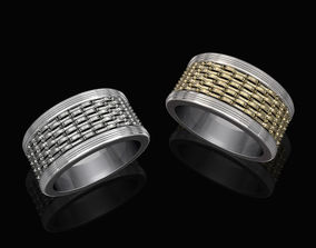 Textured band ring 3D print model