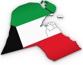 3d Political Map of Kuwait