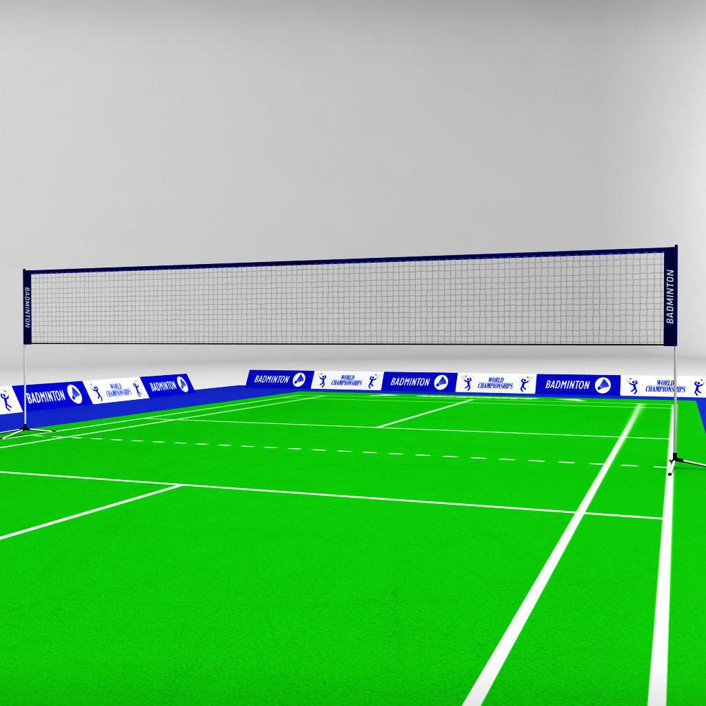 3D model Badminton court arena VR / AR / low-poly MAX OBJ ...