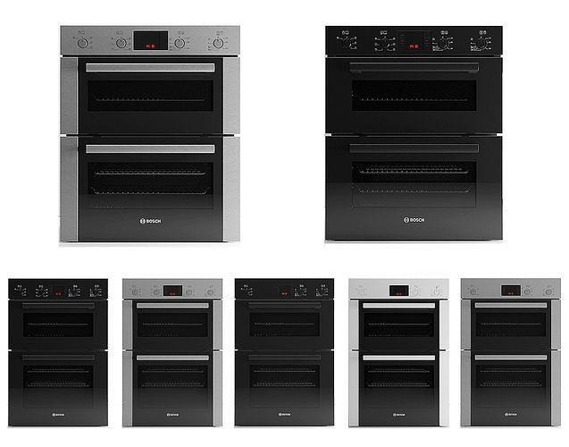 bosch built-in ovens 7pcs pack  3d model max obj mtl fbx 1
