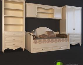 Childroom furniture set Bacaut 3D