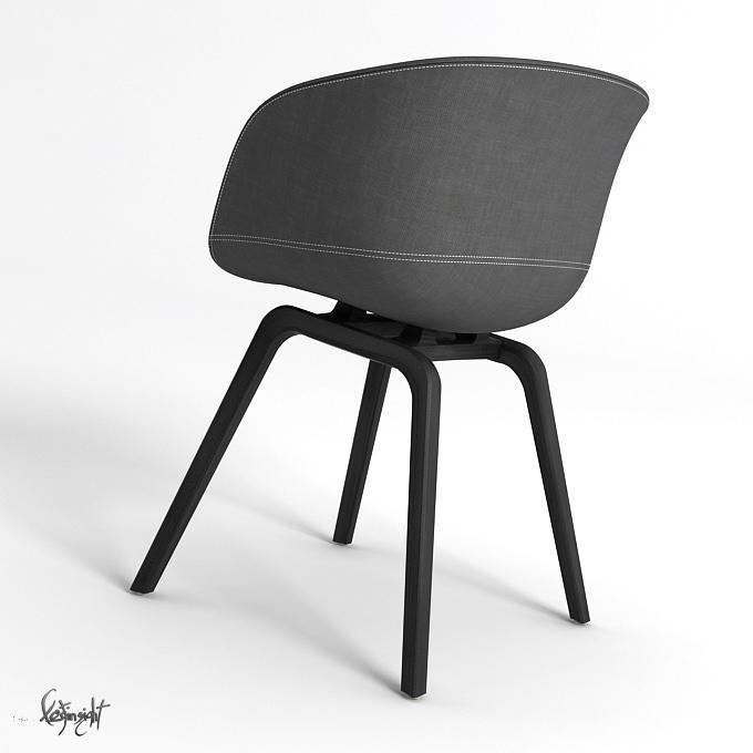 63k 3 description comments 3 aac22 chair 3d model aac22 hay. Black Bedroom Furniture Sets. Home Design Ideas