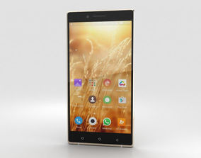 3D Gionee Elife E8 Gold