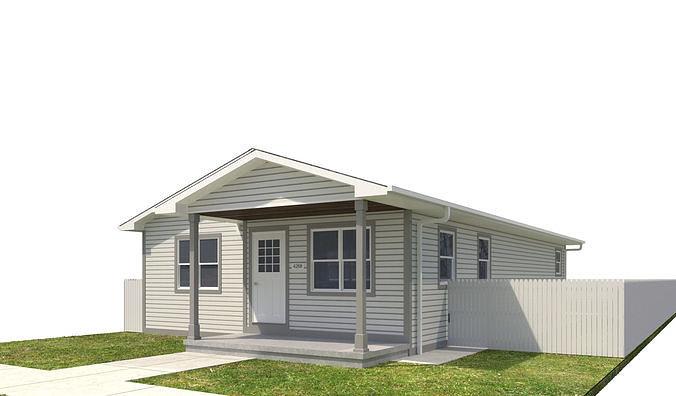 house-046 3d model max obj mtl 3ds fbx dwg 1