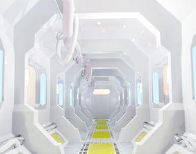 Modular 3D model Futuristic Sci Fi Corridor