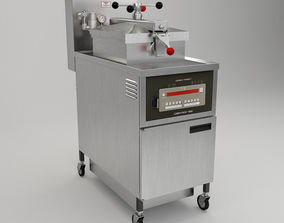 Pressure Fryer 3D model industrial