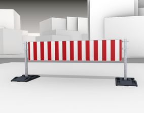 3D model Construction Barrier Version 3 600-39 500x2400mm