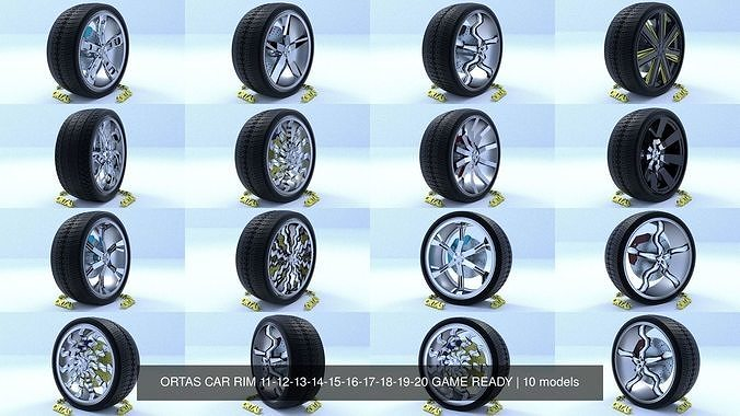 ortas car rim 11-12-13-14-15-16-17-18-19-20 game ready 3d model obj mtl fbx 1