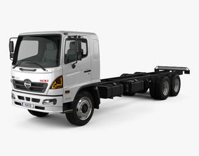 3D Hino 500 FC LWB Chassis Truck 2016