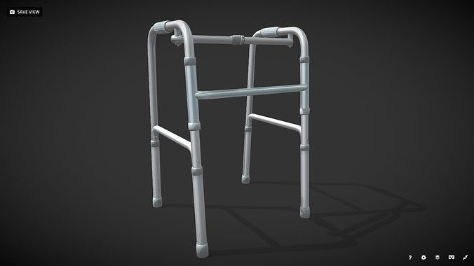 disabled four-legged crutch old man walker 3d model low-poly obj mtl 3ds fbx stl blend dae 1