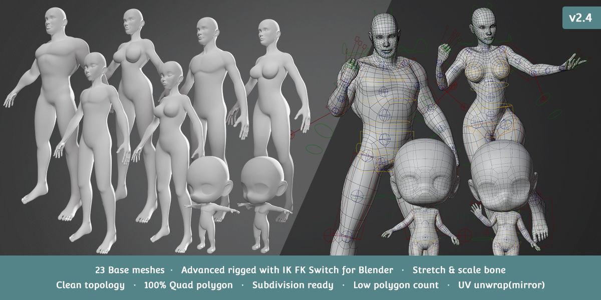 Base Meshes Character Starter Kit