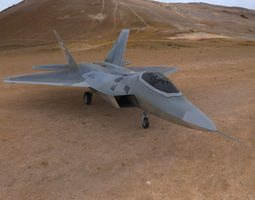 F-22 Raptor Aircraft 3D Model