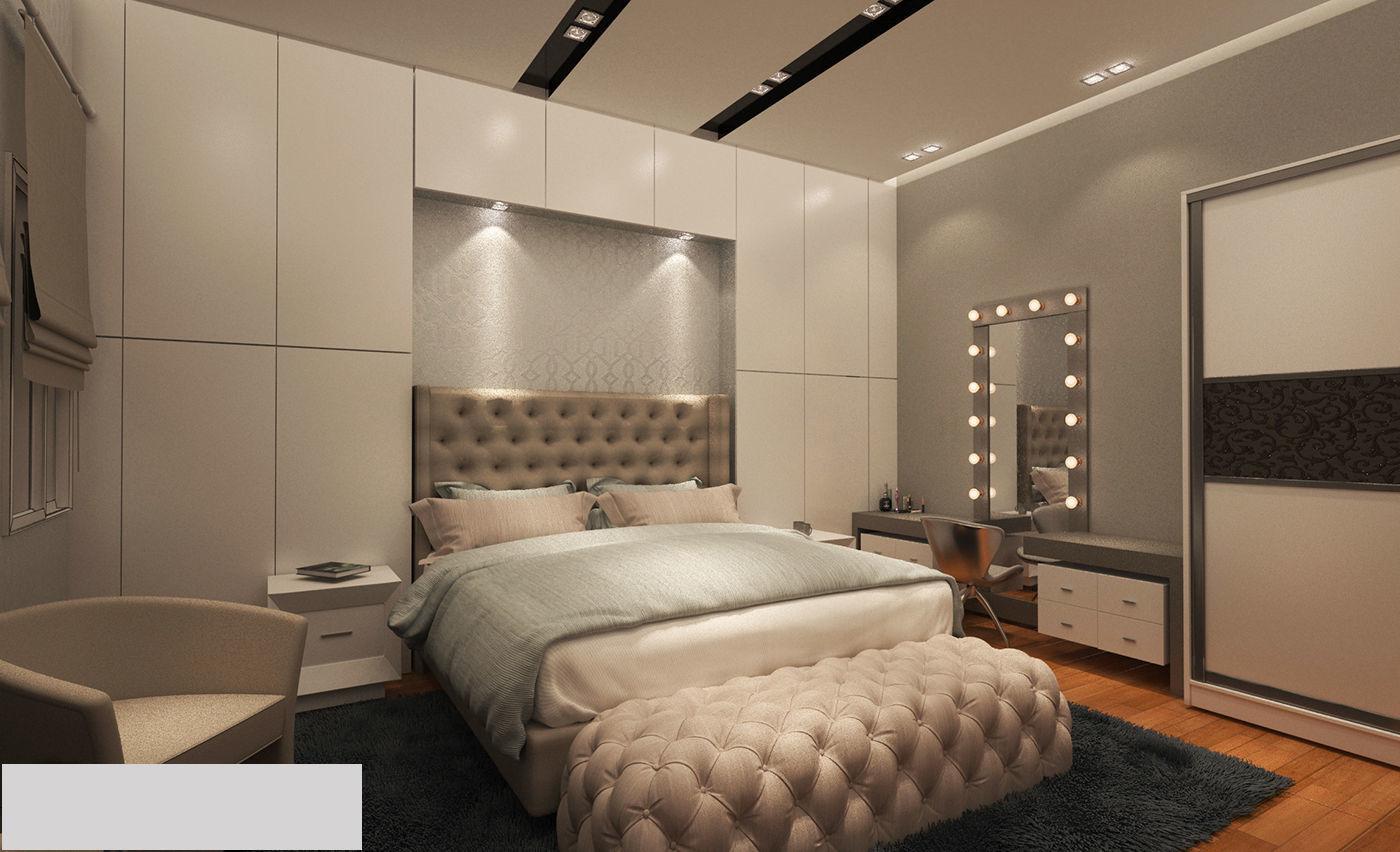 Modern Master Bedroom 3d Model Max
