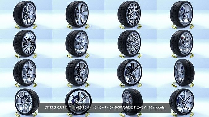 ortas car rim 41-42-43-44-45-46-47-48-49-50 game ready 3d model obj mtl fbx 1