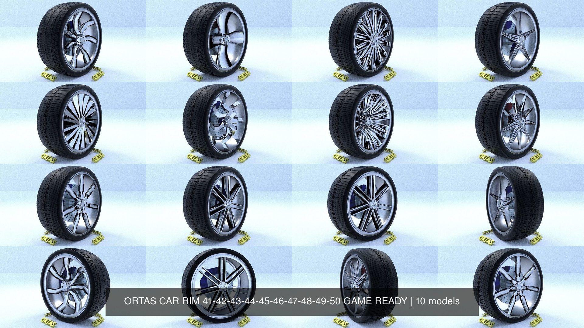 ORTAS CAR RIM 41-42-43-44-45-46-47-48-49-50 GAME READY