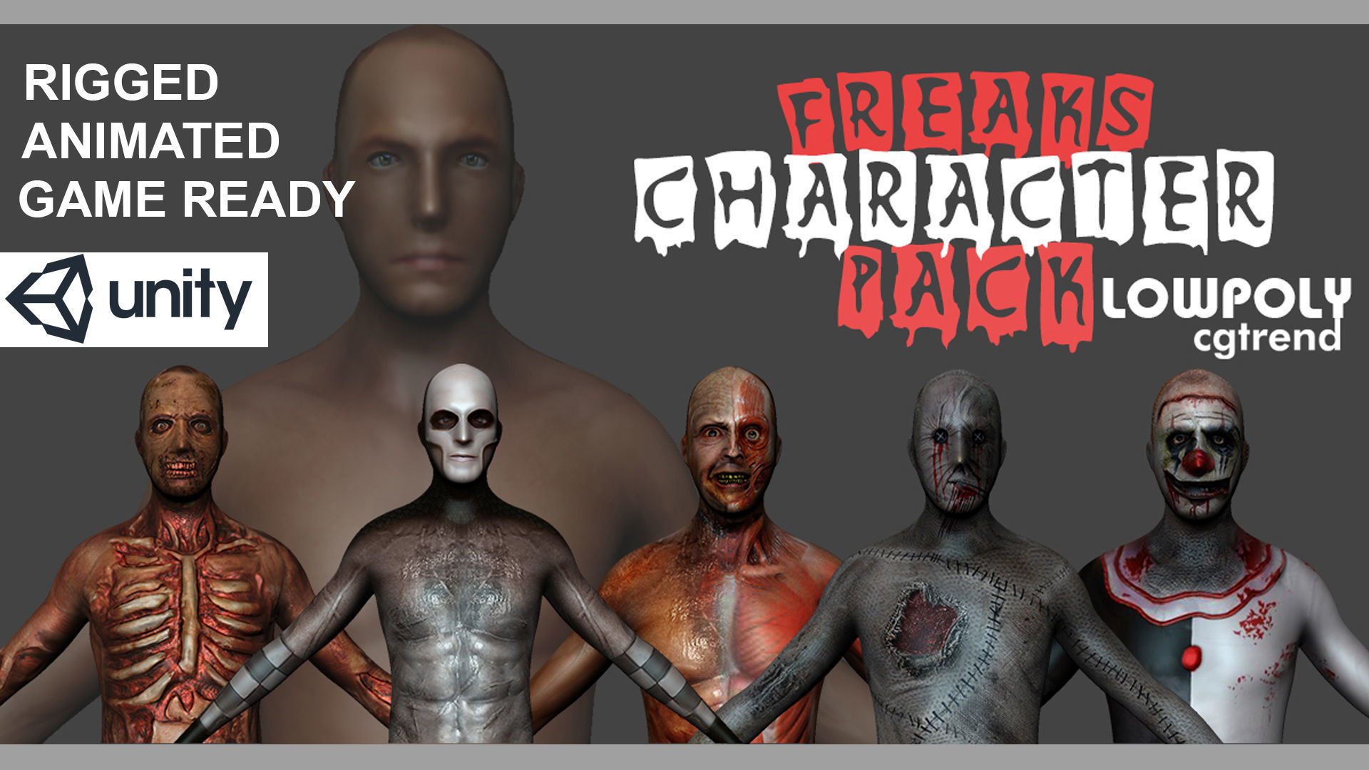 Freaks Rigged Character Pack | 3D model