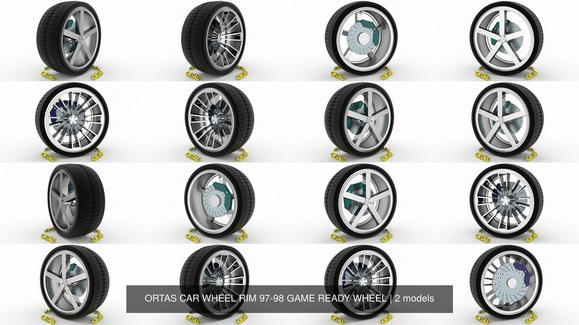 ORTAS CAR WHEEL RIM 97-98 GAME READY WHEEL
