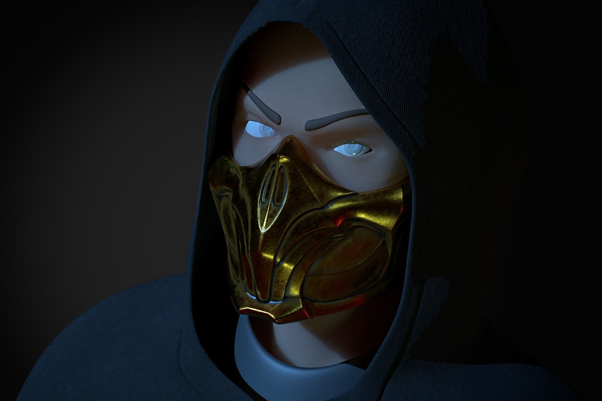 Scorpion Mask Mortal Kombat 11 3d Model 3d Printable Stl