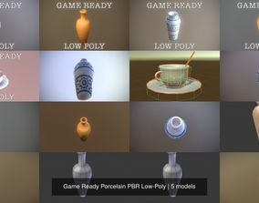 Game Ready Porcelain PBR Low-Poly 3D