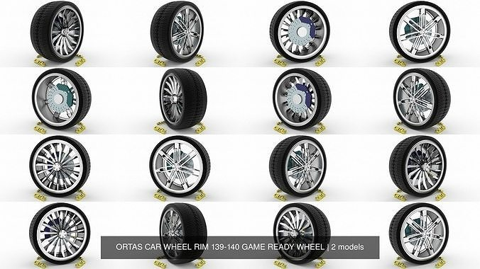 ortas car wheel rim 139-140 game ready wheel 3d model obj mtl fbx blend 1