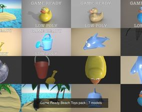 3D model Game Ready Beach Toys pack