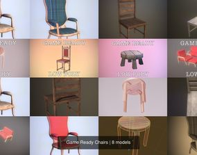Game Ready Chairs 3D model