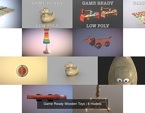 3D model Game Ready Wooden Toys