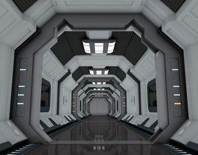 interior SciFi Spaceship Corridor 7 MAX 3D model