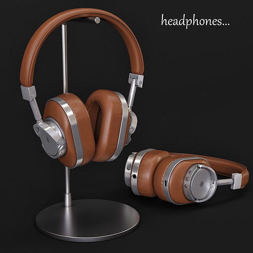 headphones master dynamic mw60s2 3d model max obj mtl 1