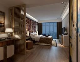 Cozy Romantic Bedroom 3D Model