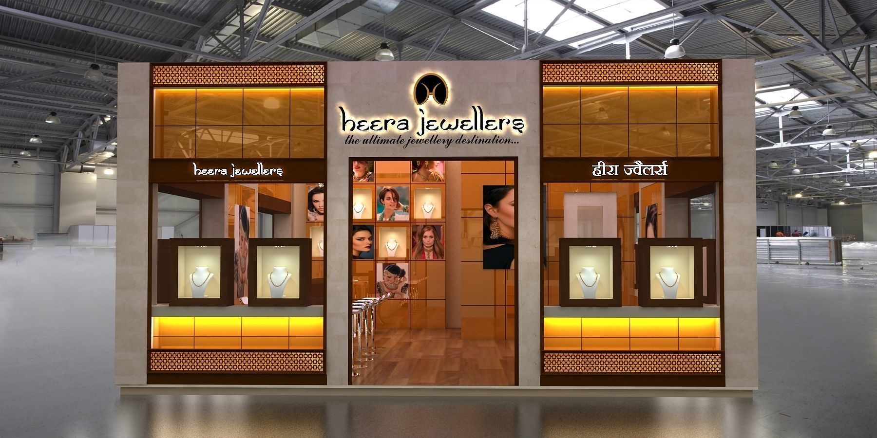 Jewelry Exhibition Stand Design : 3d jewellery exhibition stand 6x8mtr cgtrader