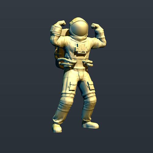 jolly astronaut 3d model max obj mtl fbx stl ztl 1