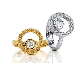 3D printable model Ring Fashion Circle inside circle R F