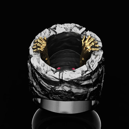 from the depth ring 3d model obj mtl stl 3dm 1