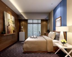 photoreal bedroom 3D model