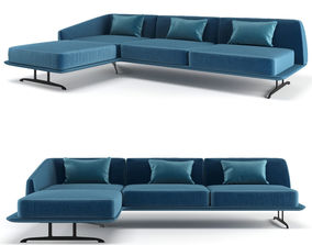 3D model Baleri Italia Trays corner sofa