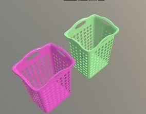 plastic Laundry Basket 3D
