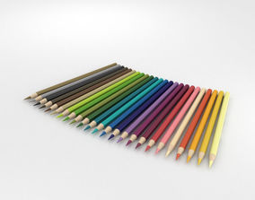 various 3D Colored Pencils