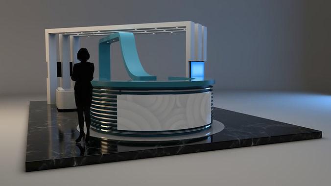 exhibition stand 3d model obj mtl fbx ma mb mel 1