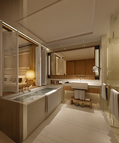 Photo real hotel room 3d model max for Bathroom models images