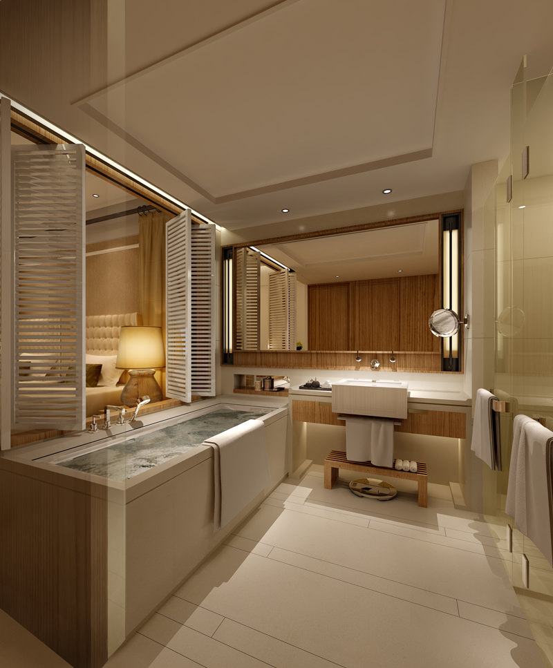 photo real hotel room 3d model max 1 .