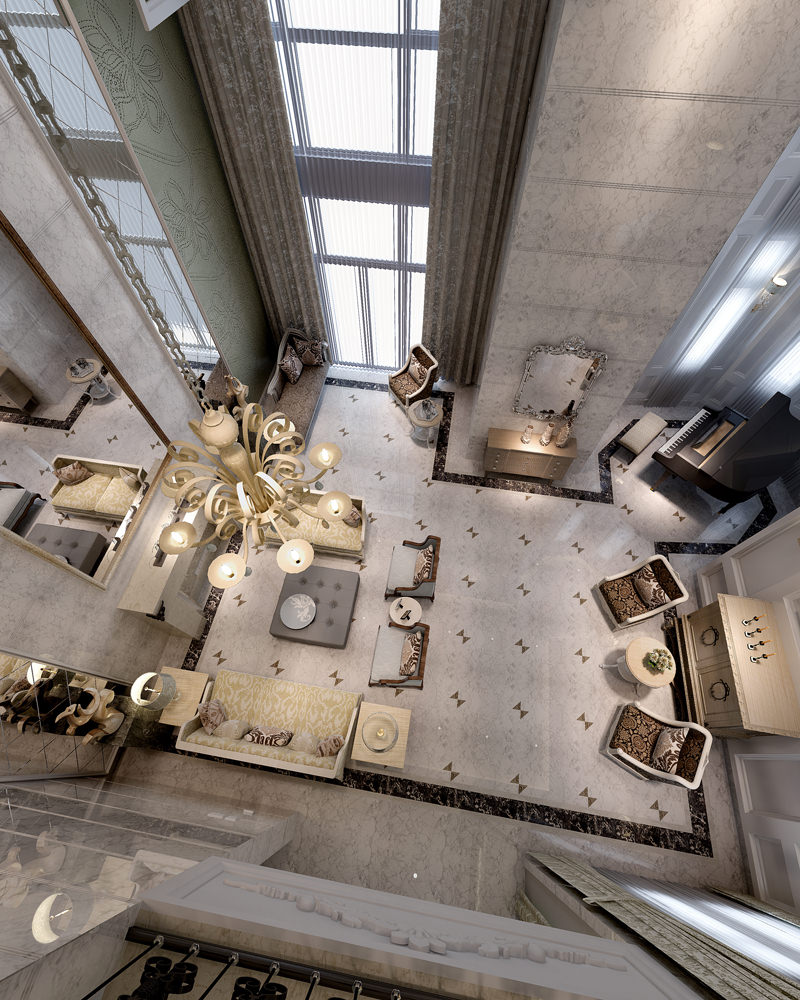 3d Interior Room Design: Two Style Photoreal Living Room Interior 3D Model .max