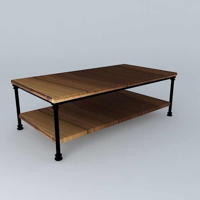 Coffee table fontainebleau maisons du monde 3d model max obj 3ds fbx stl - Maison du monde tables ...