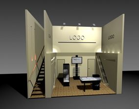 3D model Industrial Expo Stand