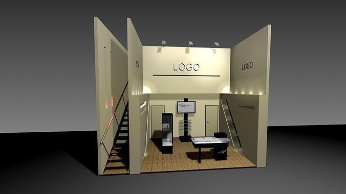 industrial expo stand 3d model max obj mtl 3ds fbx tga 1