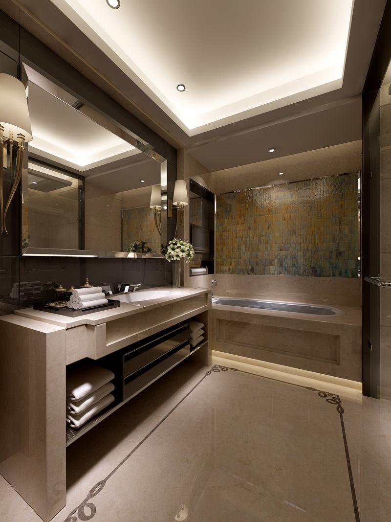 Photo real bathroom interior 3d model max for New model bathroom