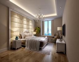 romantic bedroom photo real 3d